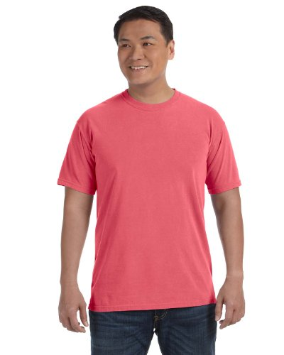 Chouinard Men'S Ring-Spun Garment-Dye Bottom Hem T-Shirt, Salmon, 2X (Dye Ringspun Garment)