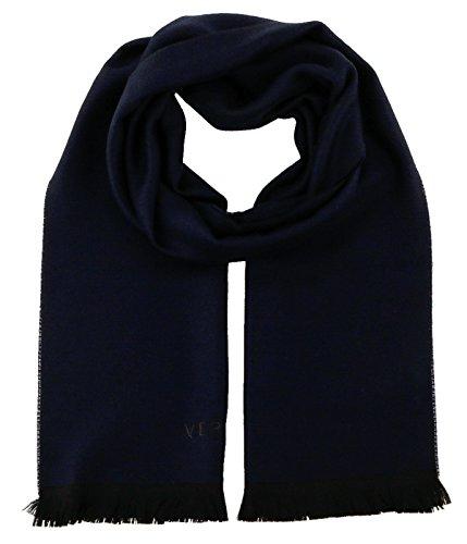 Versace-IT00635-BLU-Navy-Blue-100-Wool-Mens-Scarf