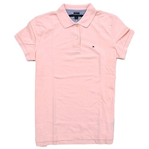 Tommy Hilfiger Women's Relaxed Fit Polo Shirt (Light Pink, Medium)