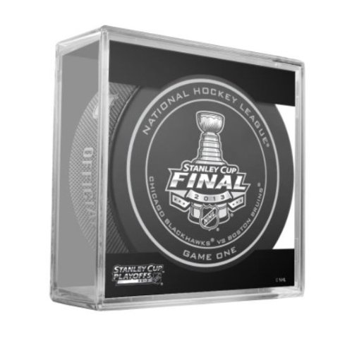 2013 NHL Stanley Cup Finals Game 1 Puck - Boston Bruins vs Chicago Blackhawks