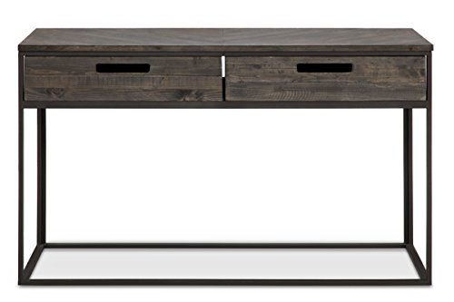 (Magnussen T4034-73 T4034 Claremont Transitional Weathered Charcoal Rectangular Sofa Table)