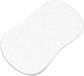 product image for SheetWorld Fitted Bassinet Sheet (Fits Halo Bassinet Swivel Sleeper) - White On White Multi Circles - Made In USA