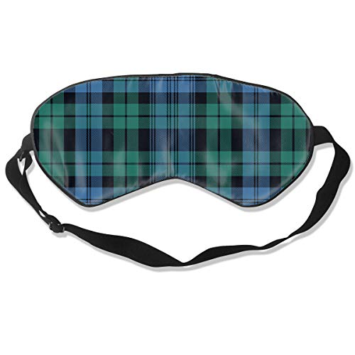 Black Watch Tartan, Ancient Eye Mask Travel Soft Padded Sleep Shade Cover Rest Relax Sleeping Blindfold