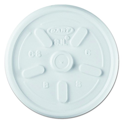 Dart 8JL White Vented Plastic Lid for 8J8, 9J8, 3.5B8 Foam Cups (Case of (8jl Plastic Lids)