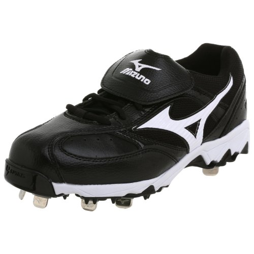 - Mizuno Men's 9-Spike Vintage Low G5 Cleat,Black/White,8 M