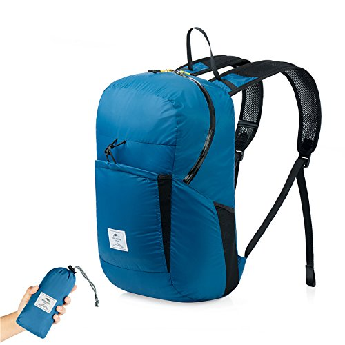 Naturehike Ultralight Foldable Packable Small Hiking Daypack Backpack for Women Men, Lightweight 18L 25L Waterproof for Climbing Camping Backpacking Cycling Bicycle Travel Airplane (Blue - 25L)