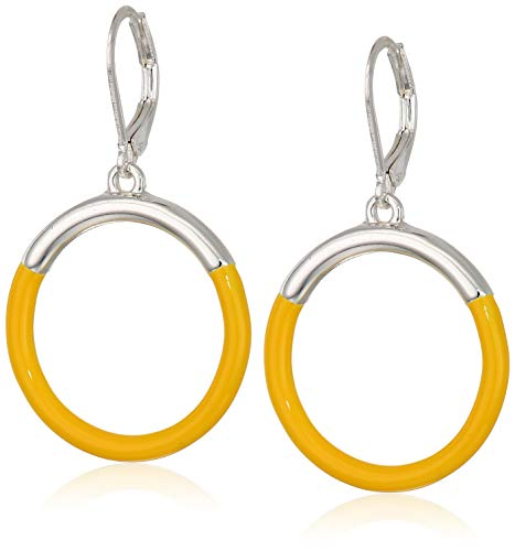 (Napier Women's Silver/Yellow Circle Drop)