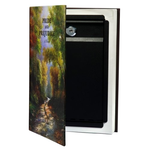 BARSKA Hidden Real Book Lock Box with Key Lock