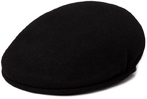 (Kangol Men's Wool 504 Cap (Large -7 1/4-7 3/8, Black))