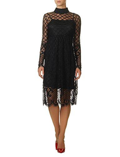 Glamorous Women's Women's Black Lace Dress 100% Polyester Black