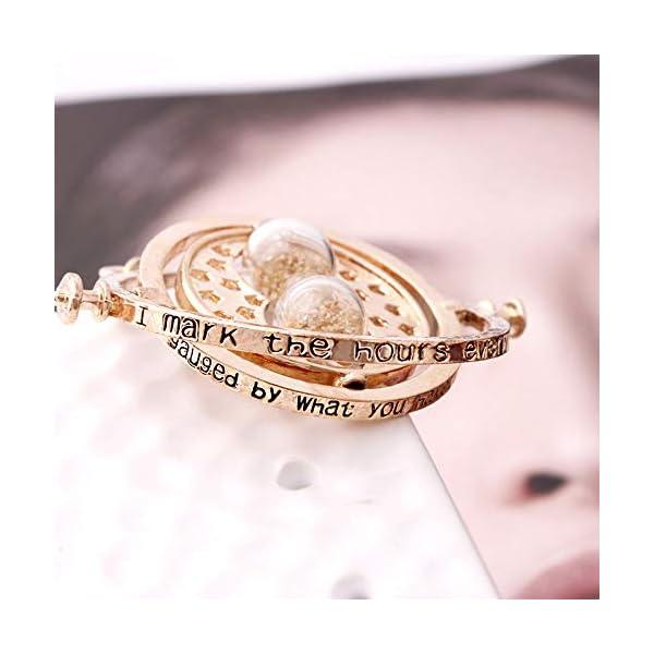 Collana a clessidra Harry Potter Convertitore di tempo a 360 gradi Clessidra Ciondolo Turner Ciondolo gioielli Ciondolo rotante Collana guidata Accessori ciondolo sabbia Collana