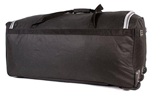 41LRIfULBLL - KS-10034pulgadas Tamaño Grande Negro y Gris con ruedas Bolsa de viaje con asa