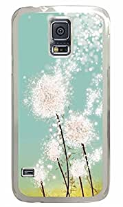 Transparent Fashion Case for Samsung Galaxy S5 Generation Plastic Case Cover for Samsung Galaxy S5 with Dandelion