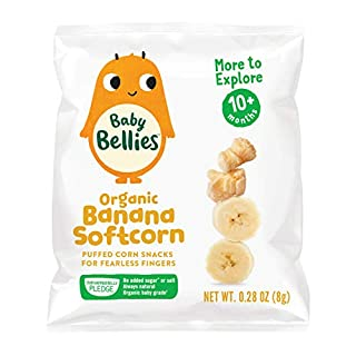 Baby Bellies Organic Banana Softcorn, 7 pack of individual snack bags
