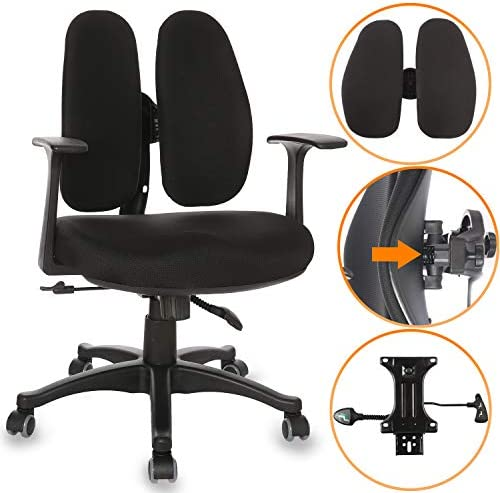 Ergonomic Office Chair Desk Computer High Back Swivel Chair Managerial Executive Chair with Adjustable Lumbar Support