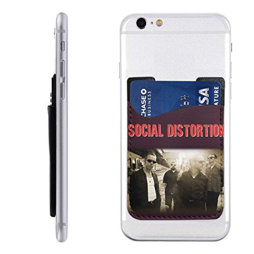 Social Distortion Tour 2019 Phone Holder Backpack Wallet,PU 3M Adhesive Stick-on ID Credit Card Wallet Phone Case Pouch Sleeve Pocket Compatible Pocket Pocket Sleeve