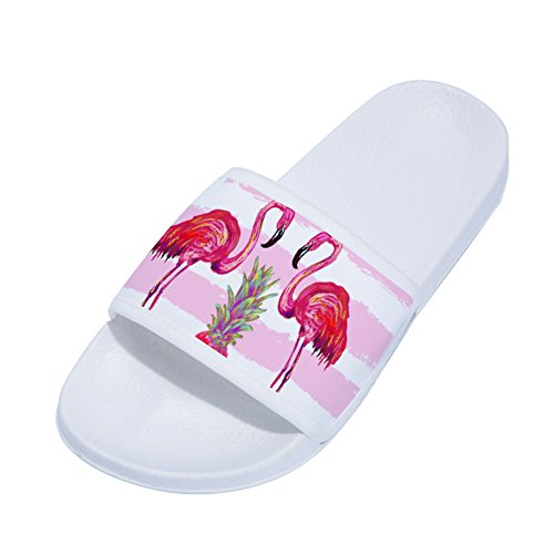 Slippers Pineapple Non Flamingos Quick Pink for Slip Buteri White Womens Slippers Drying xqEn8A4wwH