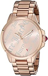 Juicy Couture Women's 1901278 Jetsetter Analog Display Quartz Rose Gold Watch