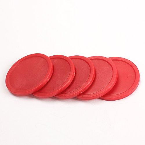 Pack of 5 Red 2-inch Mini Air Hockey Table Pucks ()