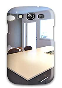 Hot RYKXJCQB16EN06SI Snap-on Case Designed For Galaxy S3- Gray Kitchen Featuring Island With Cooktop