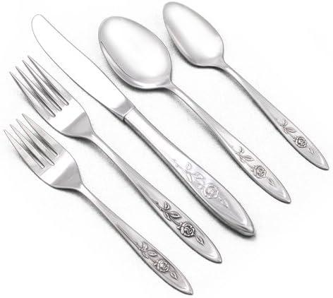 Oneida MY ROSE Set of 4 Teaspoons Community Stainless Flatware Lot H