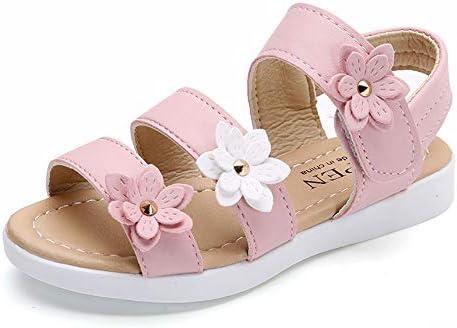 Babelvit Girls Open Toe Summer Sandals Flower Princess Dress Flat Outdoor School Holiday Beach Shoes Toddler//Little Kid