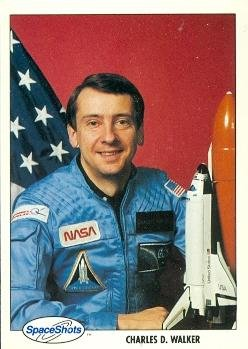 Charles D. Walker trading card (Astronaut) 1990 Space Ventures #10 Autograph Warehouse