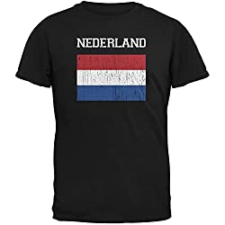 World Cup Distressed Flag Nederland Adult T-Shirt