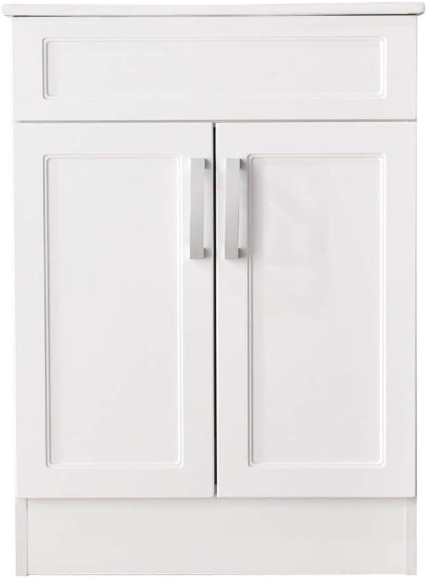 LifeSky Modern bathroom vanity, White 025