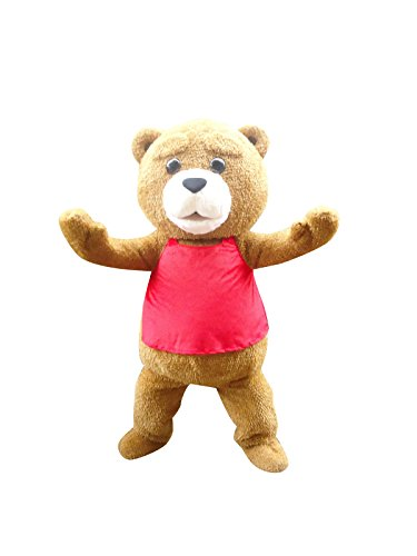 Sinoocean Bear Ted Adult Mascot Costume Cosplay Fancy Dress Outfit -