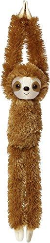 Aurora World Hanging Sloth Plush Toy (Brown) - 21, Meters