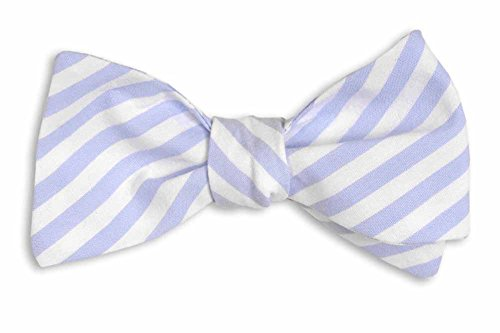 High Cotton Men's Self Tie Stripe One Size Wide Carolina Blue by High Cotton