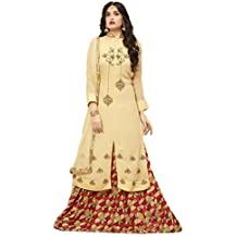 Royal Heaven Ready Made Cream Color Georgette Embroidered Designer Lehenga Salwar Suit
