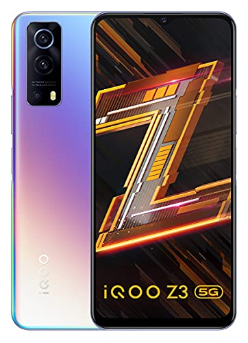 iQOO Z3 5G (Cyber Blue, 8GB RAM, 128GB Storage) | India's First SD 768G 5G Processor | 55W FlashCharge | Upto 6 Months No Cost EMI | Extra Rs.2000 Off on Exchange