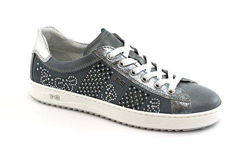 Jardines de Negro 05100 Blu Zapatillas Cordones Deporte Deportivos Azules Zapatos wqxp1x7BF