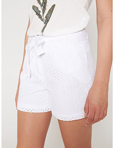 Shorts Italian Size Bianco alta in vita sangallo a Motivi dOwYRqd