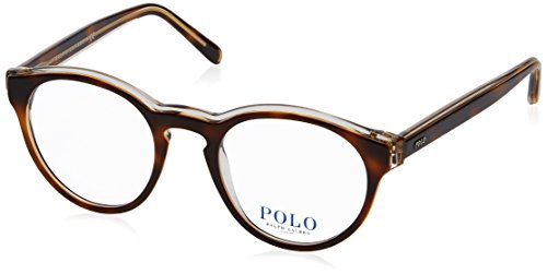 Polo Men's PH2175 Eyeglasses Havana On Smoke Crystal 48mm by Polo Ralph Lauren