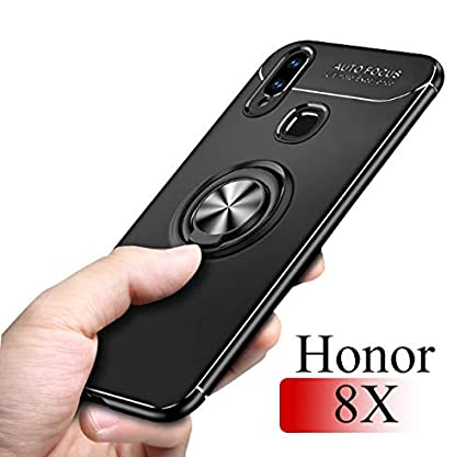 check out a3680 c717d Mobistyle Huawei Honor 8X Back case -Sleek Rubberized Case with Ring Stand  Back Cover Case for Huawei Honor 8X (Ring Case)