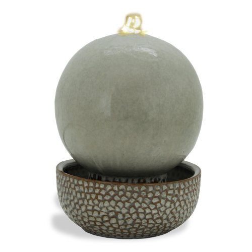 Pacific Décor White LED Globe Fountain, 11-Inch, Sand by Pacific Décor