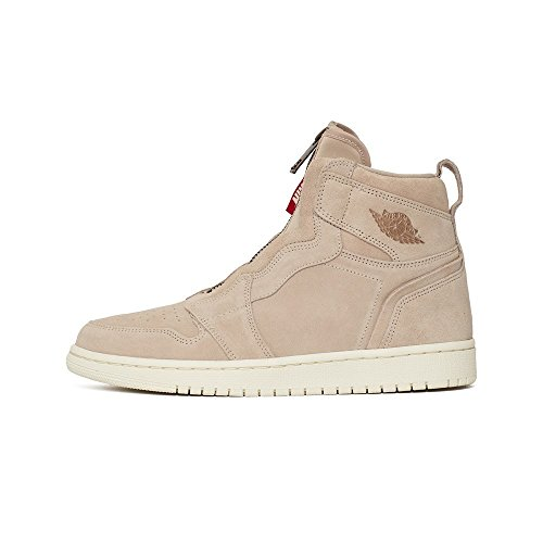 Jordan Nike Women's Air 1 High Zip Basketball Shoe 9.5 Beige