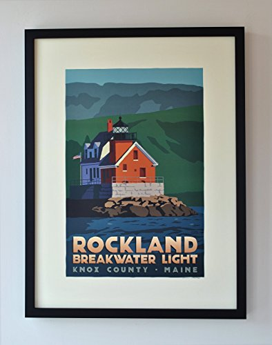 rockland-breakwater-light-maine-framed-print-18x24-lighthouse-travel-poster-wall-decor-art