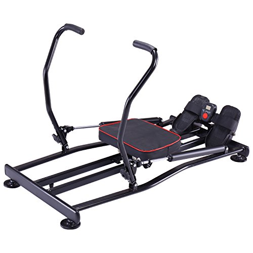 K KiNGKANG Rowing Machine Adjustable Resistance Fitness Home Training Workout Rower Equipment - Hydraulic Rower