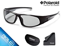 Polaroid N8117A Junior Panoramic 3D Glasses (Black/Silver)