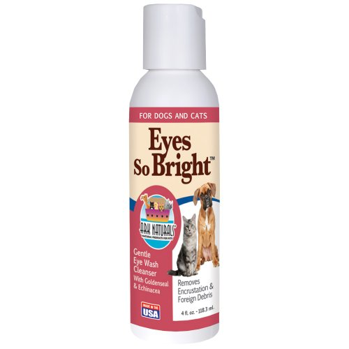 Ark Naturals Eyes So Bright, Gentle Eye Wash for Dogs and Cats, Naturally Removes Dirt and Debris, 4oz Bottle