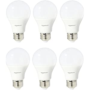 AmazonBasics 75 Watt Equivalent, Daylight, Non-Dimmable, A19 LED Light Bulb | 6-Pack