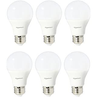 AmazonBasics 75 Watt Equivalent, Daylight, Non-Dimmable, 15,000 Hour Lifetime, A19 LED Light Bulb | 6-Pack