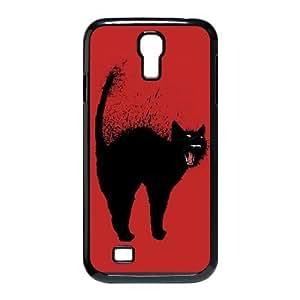 Black Cat CUSTOM Case Cover for SamSung Galaxy S4 I9500 LMc-58354 at LaiMc