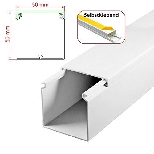 StilBest® 80m Kabelkanal [L x B x H 200x6,0x6,0 cm, PVC, Selbstklebend, weiß] Kabeldurchführungssystem   Kabelleiste   Kabelschlauch   Kabelrohr B07PMDTBHX | Modernes Design