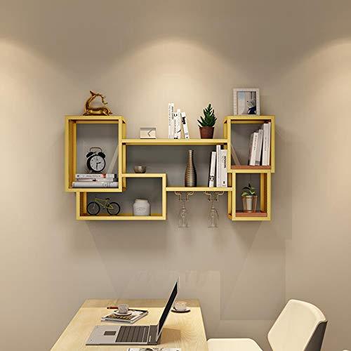 ZR- Estante Pared/Rack Gabinete Almacenamiento Montado En La Pared Dormitorio Celosía Creativa Gabinete para Colgar/Gabinete...