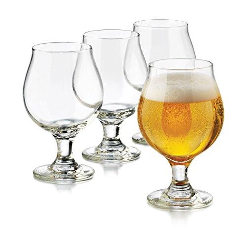 Cider Glass - Libbey 3808S4 4 Piece Hard Cider McIntosh Drinkware Set, Clear